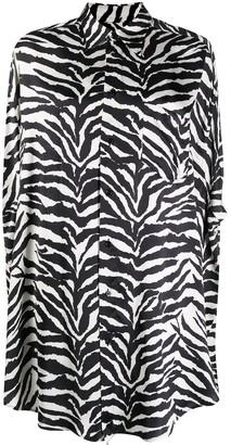 MM6 MAISON MARGIELA Zebra-Print Sleeveless Shirt