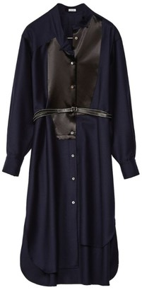 Loewe Asymmetric Belted Shirt Dress