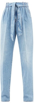 Made In Tomboy - Ylenia Paperbag-waist Straight-leg Jeans - Light Denim