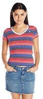 U.S. Polo Assn. Juniors Multi Stripe V-Neck T-Shirt