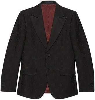Gucci Fitted GG stripe wool silk jacket