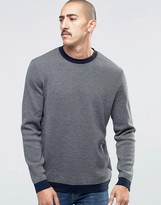 Barbour Jumper In Navy Merino Stripe
