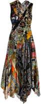 Erdem Reza Patchwork Floral-print Velvet Gown - Black