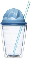 Sagaform Sweet Milkshake with Straw, Plastic, Blue