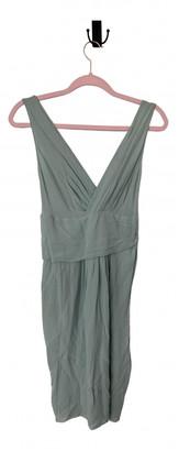 John Galliano Blue Silk Dresses