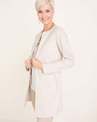 Chico's Chicos Long Faux-Suede Jacket