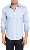Bugatchi Men's Shaped Fit Tattersall Sport Shirt