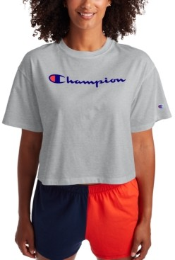 Champion Women's Logo Cropped T-Shirt