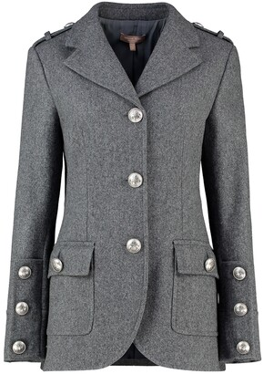 Michael Kors Wool Melton Military Jacket