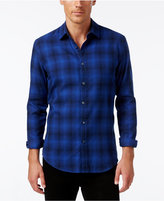 Alfani Men's Slim-Fit Brushed Plaid Shirt, Only at Macy's