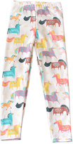 Urban Smalls Cream Unicorn Leggings - Infant Toddler & Girls