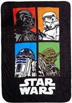 """Star Wars Classic Grid 62"""" x 90"""" Plush Twin Blanket"""