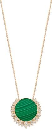Piaget Rose Gold, Diamond and Malachite Sunlight Pendant Necklace