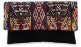 Black Cotton Clutch Handbag with Hand Woven Geometry, 'Nebaj Geometry'