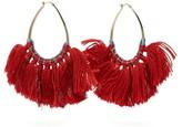 Missoni Tasselled Lurex Hoop Earrings - Womens - Red