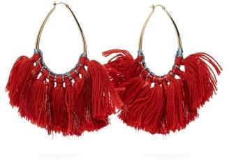 Missoni Tasselled Lurex Hoop Earrings - Red