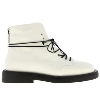 Marsèll Gommello Boots In Leather With Rubber Sole And Zip