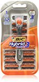 BIC Hybrid 3 Comfort Disposable Razor, Men, 12-Count