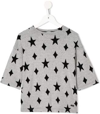 Fith star-print loose T-shirt