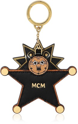MCM Star Lion Mirror Bag Charm