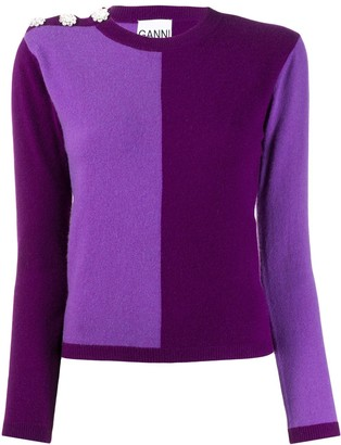Ganni colour block jumper