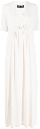 Fabiana Filippi Short-Sleeved Maxi Dress
