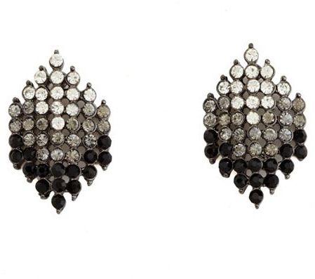 Charlotte Russe Geo Rhinestone Stud Earrings