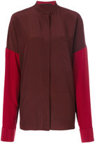 Haider Ackermann colour-block shirt - women - Silk/Cotton - 36