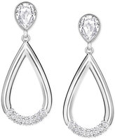 Swarovski Pear-Cut Crystal and Pavé Teardrop Earrings