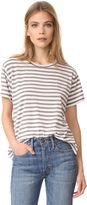 Vince Stripe Short Sleeve Crew