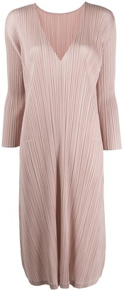 Pleats Please Issey Miyake pleated midi dress