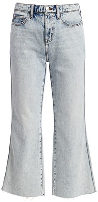 Current/Elliott Femme Cropped Bell-Cuff Jeans