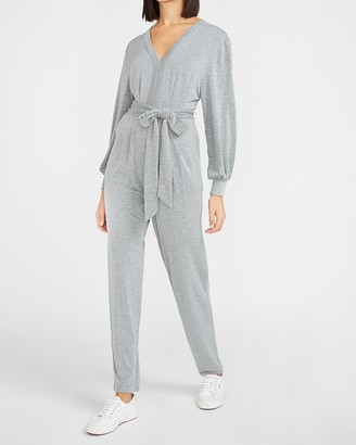 Express Cozy Belted Lounge Jumpsuit