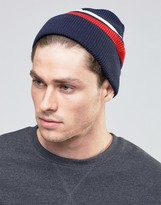 Asos Fisherman Beanie With Stripe