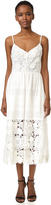 Prabal Gurung Spaghetti Strap Eyelet Dress