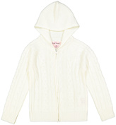Pink Angel Off-White Cable-Knit Zip-Up Hoodie - Infant
