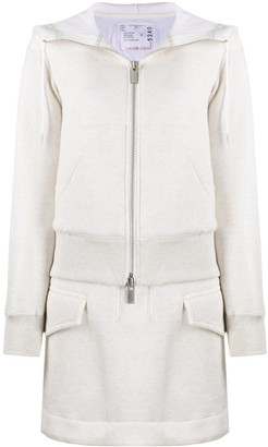Sacai Layered Zip-Up Hoodie