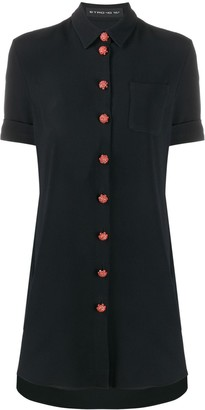 Etro Contrast Button Shirt Dress