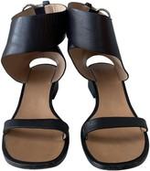 Celine Black Leather Sandals
