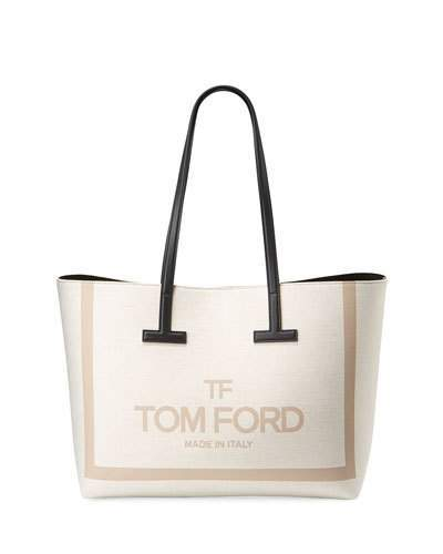 955475217bd Printed Canvas and Leather Shoulder Tote Bag
