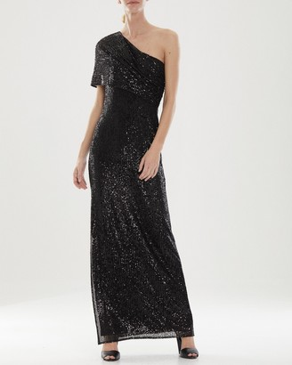 Halston Diana Linear Sequin Gown