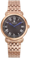 Croton Mens Rose-Tone Stainless Steel Watch
