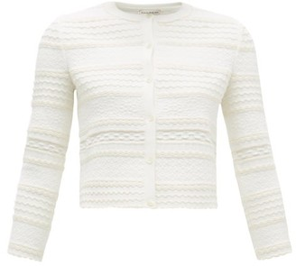 Alexander McQueen Jacquard-knit Cardigan - Womens - Ivory