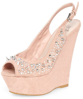 Miss KG Nude high wedges