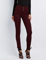 Charlotte Russe Refuge Hi-Waist Skinny Colored Jeans