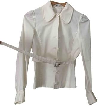 Miu Miu White Cotton Jacket for Women