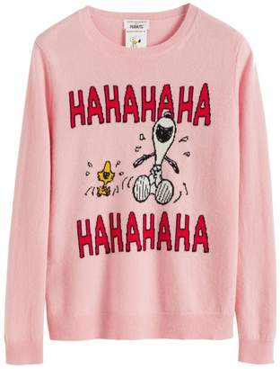 Parker Chinti & Pink Laughing Snoopy Cashmere-wool Sweater