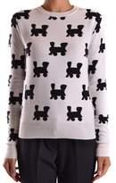 Au Jour Le Jour Women's White/black Wool Sweater.
