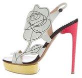 Nicholas Kirkwood Floral Platform Sandals