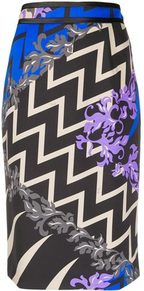 Emilio Pucci x Koche Lupa all-over straight skirt